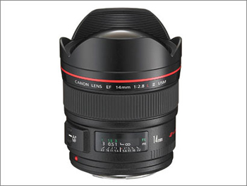 Canon 14 mm f/2.8 L Mark II.