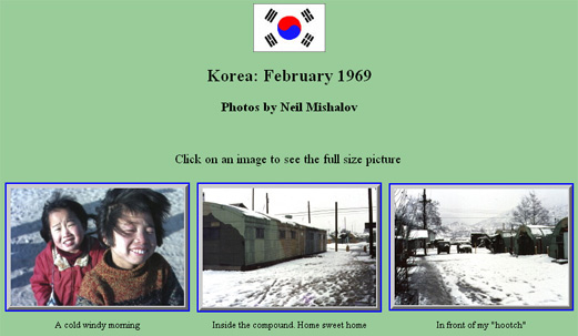 Neil Mishalov's: Korean Photo Collection 1968-1969.