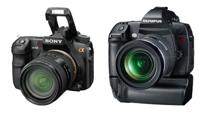 Sony A-700, Olympus E-3 E-P1.