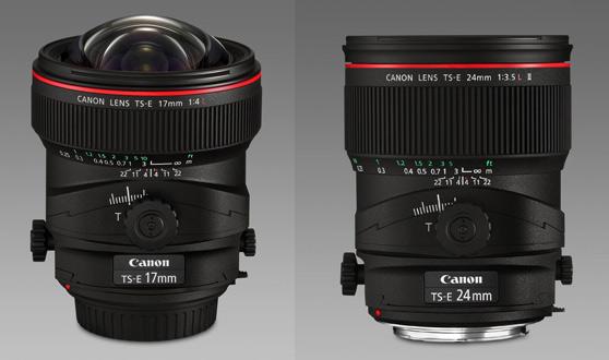 Canon TS-E 17mm y 24mm