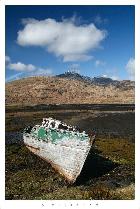 Isla de Mull. Bajamar en Loch Scridain