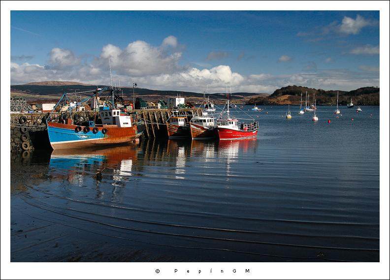Puerto pesquero de Tobermory