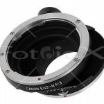Adaptador con desplazamiento (Shift) para ópticas SLR sobre micro 4/3