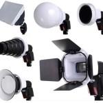 Kit de accesorios Foxfoto para flashes