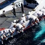 Fotografía aérea en una competición de vela