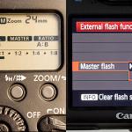 Menú de control de los flashes Canon