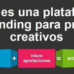 Web de microfinanciación de proyectos creativos
