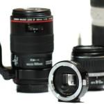 Adaptador de Sony NEX a Canon EOS con control de diafragma
