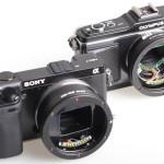 Adaptadores de objetivos Canon EOS para monturas NEX y M43 con control de diafragma