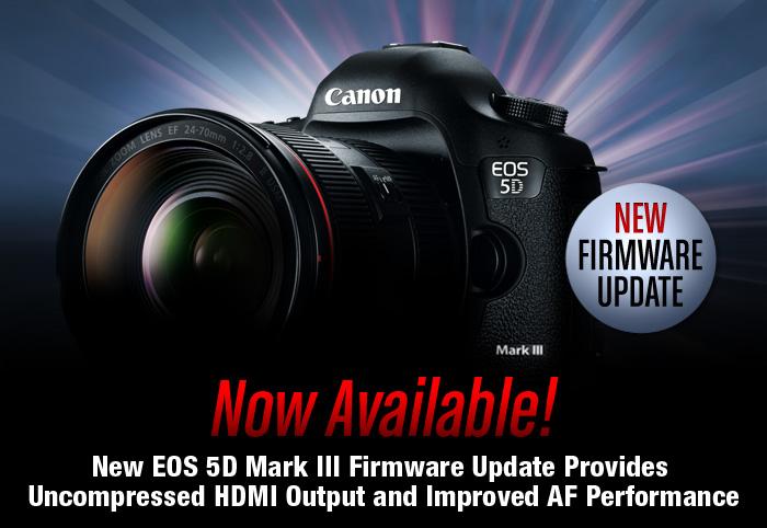 Nuevo firmware Canon EOS 5 D Mark III